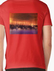San Diego Harbor Midnight Moon Mens V-Neck T-Shirt