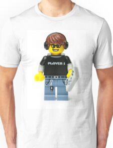 Player 1 Gamer Kid Minifig Unisex T-Shirt
