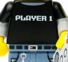 Player 1 Gamer Kid Minifig Sticker