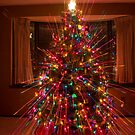 Wild Colorful Christmas Tree Light Spikes Abstract by Bo Insogna