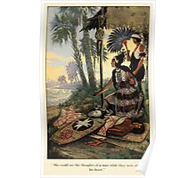 The Trail Book by Mary Hunter Austin art Milo Winter 1918 0219 She Could See the Thoughts of Man Poster