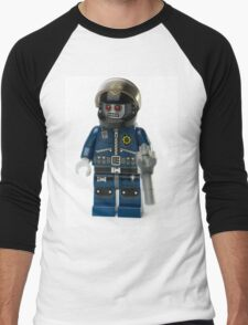 Zombie Cop Minifig Men's Baseball ¾ T-Shirt
