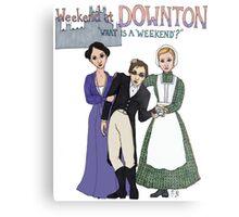 Weekend at Downton Metal Print