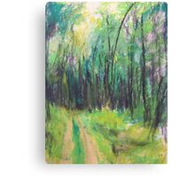 Wald (pastel) Canvas Print