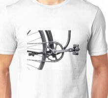 Old Bicycle Pedal Sprocket and Chain Unisex T-Shirt