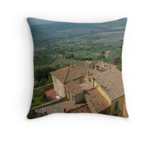 The Rooftops of Montepulciano Throw Pillow