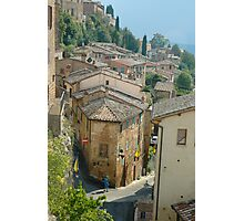 A Street in Montepulciano Photographic Print