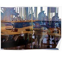 Carousel Reflections - Geelong Victoria Australia Poster