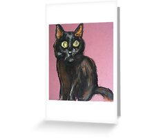 Petite Chatte Noir Greeting Card