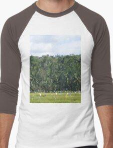 a desolate Timor-Leste landscape Men's Baseball ¾ T-Shirt