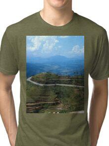 a large Timor-Leste landscape Tri-blend T-Shirt