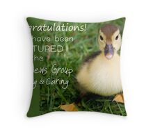 Feature Banner for the Good News Group ~Sharing and Caring  Throw Pillow