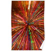 Crazy Fun Colorful Abstract Poster