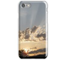 sun rays shining through the clouds iPhone Case/Skin
