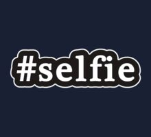 Selfie - Hashtag - Black & White One Piece - Short Sleeve