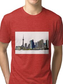 Toronto Skyline Graphic with CN Tower Tri-blend T-Shirt
