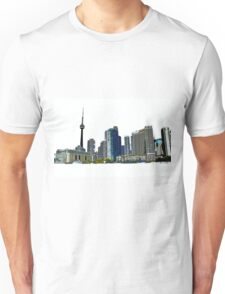 Toronto Skyline Graphic with CN Tower Unisex T-Shirt