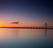 Sunrise over the Second Severn Crossing by Edward Bentley
