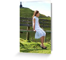 Looking out at One Tree Hill Greeting Card