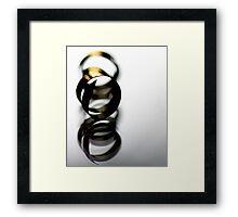Gold... fingered.. Framed Print