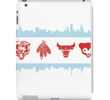 Chicago Flag with Teams and Skyline iPad Case/Skin