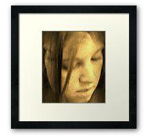 two face Framed Print