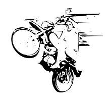 Dirt Bike Wheelie by Indrek Mändmets