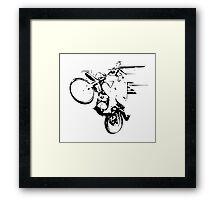 Dirt Bike Wheelie Framed Print