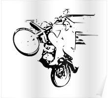 Dirt Bike Wheelie Poster