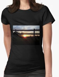 Countryside Sunrise Womens Fitted T-Shirt