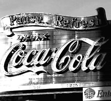 Old style Coca-Cola in B & W by Southerngurl