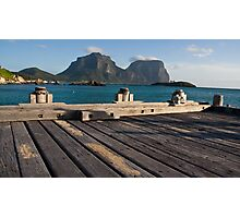 Wharf at Lord Howe Island Photographic Print