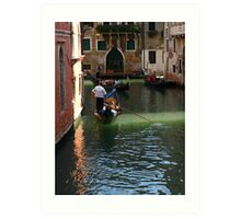 Romantic Gondola in Venice Art Print