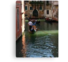 Romantic Gondola in Venice Canvas Print