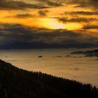 Sunset above the clouds by Béla Török