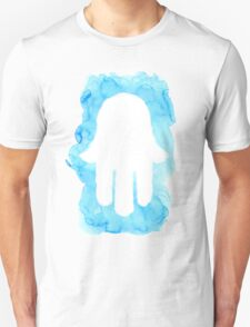 Blue Watercolor Hamsa cutout T-Shirt