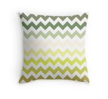 Cactus Garden Chevron 2 Throw Pillow