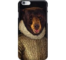 The Noble Bear - A fun image of a Bear in Noble Attire iPhone Case/Skin
