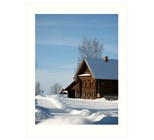 Welcome to Russian winter Art Print