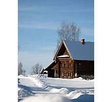 Welcome to Russian winter Photographic Print