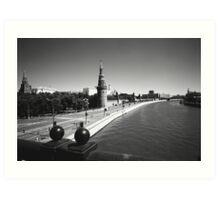 Moscow River and Kremlin Art Print