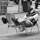 Napping In Times Square by joan warburton
