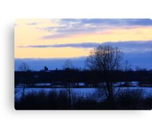 Cold Cold Evening Canvas Print