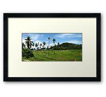 a wonderful Trinidad and Tobago landscape Framed Print