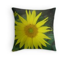 "Golden ""Sun"" Flower Throw Pillow"