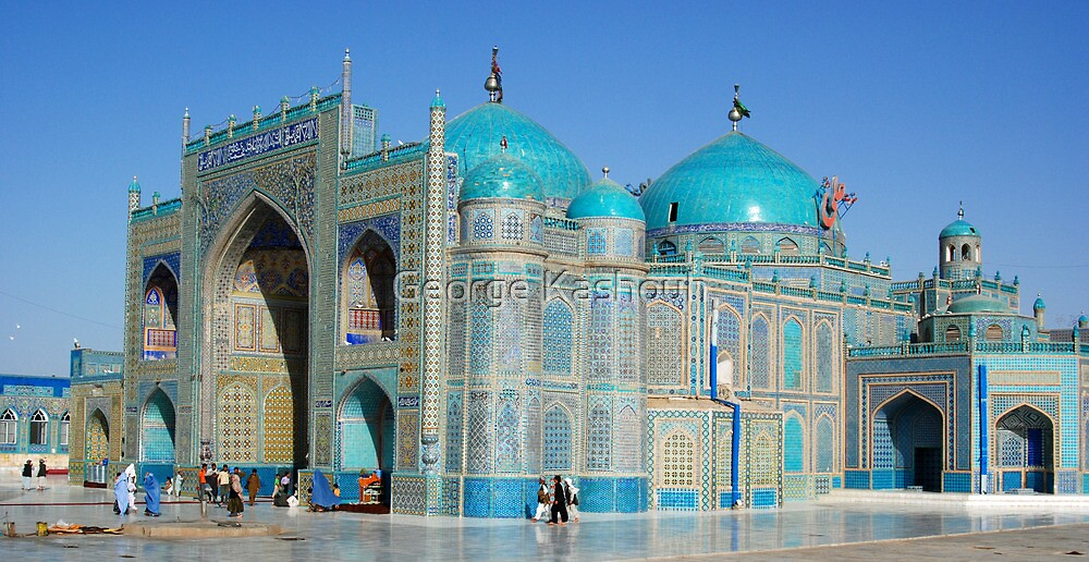 Marzar Sharif's Blue Mosque by George Kashouh