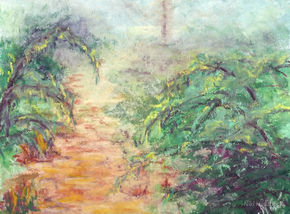 Down the Hill (pastel) by Niki Hilsabeck