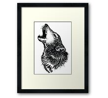 Wolf Sketch Framed Print