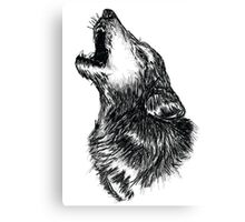 Wolf Sketch Canvas Print