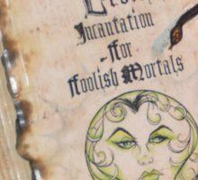 Disney Haunted Mansion Madame Leota Foolish Mortal Sticker